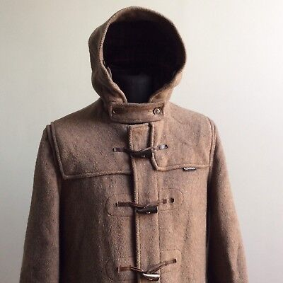 vtg CLASSIC GLOVERALL ENGLISH WOOL DUFFLE COAT MADE ENGLAND LARGE 42 107CM