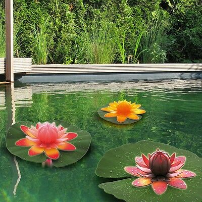 Set of 3 Design Exterior Decoration Floating Flowers Garden Pond Water Lilies