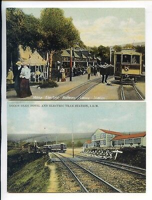 Isle Of Man Set Six Manx Electric Railway Postcards 1999 Philatelic Convention
