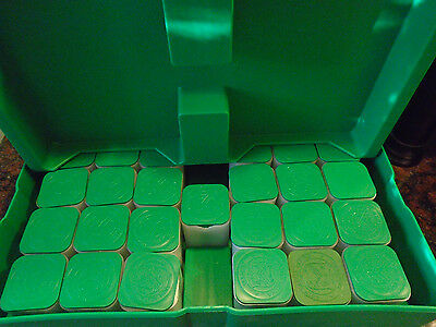 "Genuine US Mint US Treasury Green Monster Box with ""TUBES And TRAYS / NO COINS"""