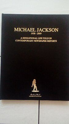 Michael Jackson Specially Binded Large Newspaper Reports