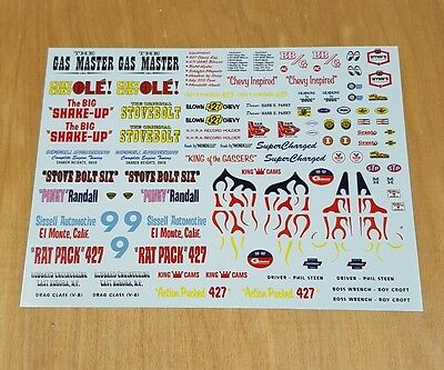 Amt 1/25 1937 Chevrolet Coupe Decal Sheet, Stovebolt