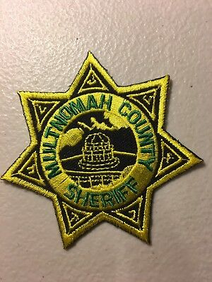 Multnomah County Oregon Sheriffs Department Police Patch Or