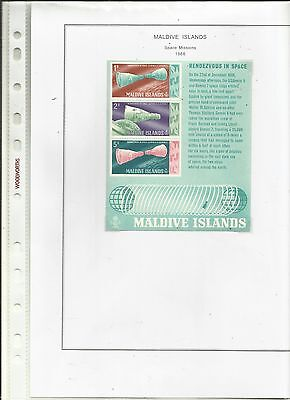 MALDIVES - 1966 - Space Missions.. MNH .