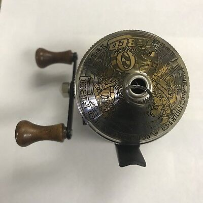 Zebco 50th Anniversary Push Button Reel Limitted Edition 24Kt Gold No Reserve!