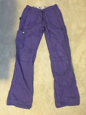 Purple Koi Scrub Pants Small Tall