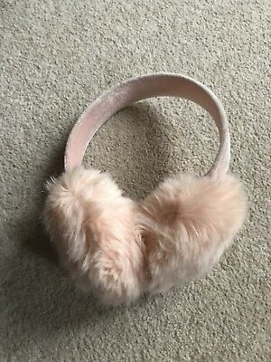 Joules Girls Earmuffs Pale Pink