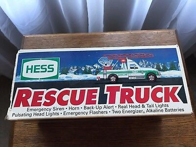 New Hess Toy Rescue Truck 1994 Collectible