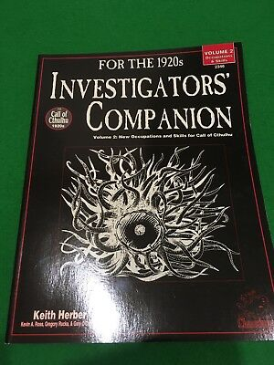 Investigators Companion Vol 2 For Call Of Cthulhu RPG