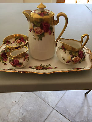 Antique Tea Set with Tray