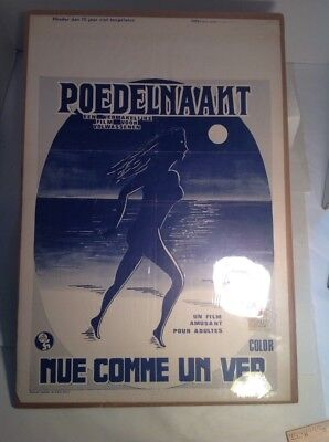 Belgian Dutch Movie Poster Vintage Excellent Condition Buck Naked Stark Naked