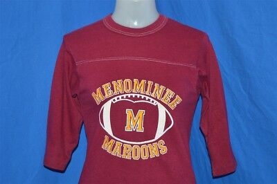 vintage 80s MENOMINEE MAROONS HIGH SCHOOL FOOTBALL CAMP EDWARDS t-shirt YOUTH L