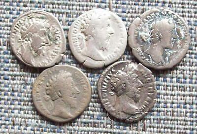 MARCUS AURELIUS  Small group of Roman silver denarii,