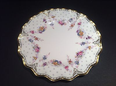 """Royal Crown Derby 'Royal Antoinette' 10"""" Dinner Plate - 2nd quality"""