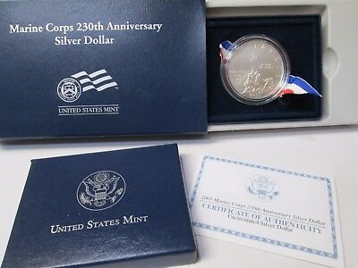 2005 Marine Corps Uncirculated Silver Dollar Commemorative Coin