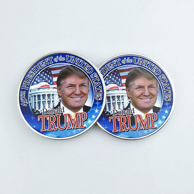 DONALD TRUMP USA American Election Commemorative Coin White House Eagle Gift