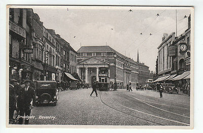 Broadgate Coventry Car Reg VC3229 c1929 Real Photograph 8360 Old Postcard