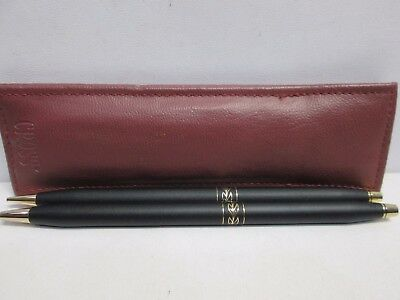 Black And Gold Pen & Pencil With Maroon Pen Purse