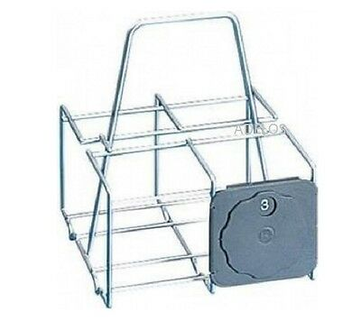 Metaltex Rust & Dust Proof 4 Pint Milk Bottle Holder Crate Carrier