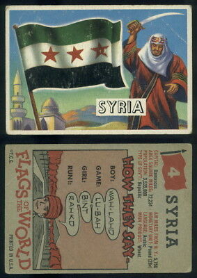 (54725) 1956 Topps Flags Of The World 4 Syria-VG