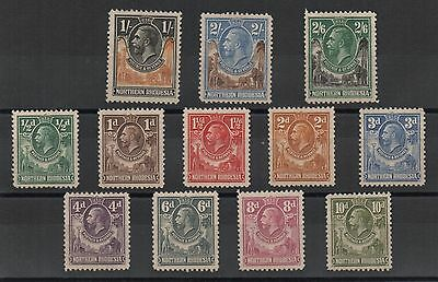 Northern Rhodesia 1925 - 1929 Lot Mint Stamps No Gum