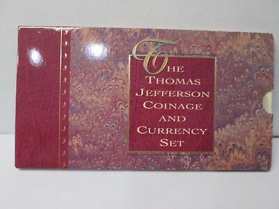 1993 Thomas Jefferson Uncirculated Coinage and Currency Commemorative Set