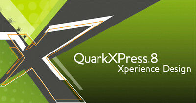 QuarkXpress 8 Vollversion in deutsch / multilingual für Windows z.b. Windows 7
