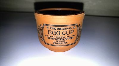 Henry Watson Pottery The Original Egg Cup Lot of 2 Suffolk Terracotta Egg Cups