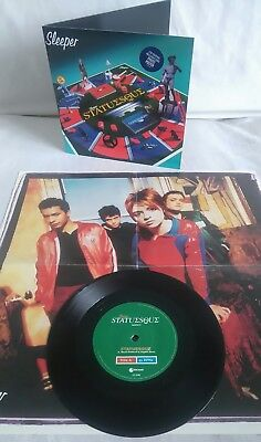 """Sleeper ~ Statuesque 7"""" P/S Ltd Edtn Numbered c/w poster UK press 1996 All EX"""