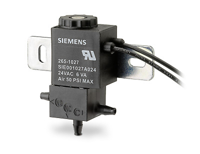SIEMENS 265-1027 Solenoid Air Valve, 24VAC, 3 Way Open Frame Electro-Pneumatic