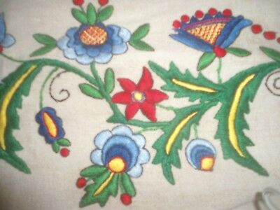"Stunning Plump Hand Embroidered Table Runner 56"" X 19"""