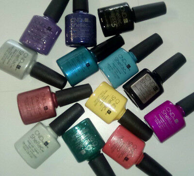 Cnd Shellac Gel Uv Nail Varnish Polish Power Starstruck Choose Any Colours