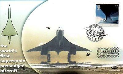 BENHAM BS Sp 68 AIRLINERS CONCORDE FDC 2-5-02 CONCORDE HEATHROW AIRPORT SHS F3