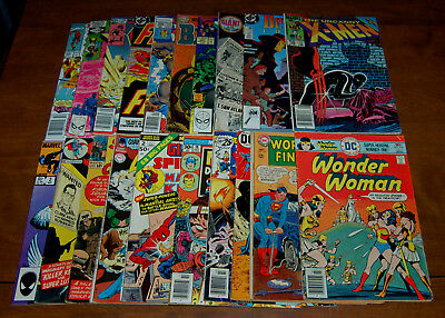 DC Marvel Lot of 20 Low Grade Silver Bronze Copper Comics FR/GD to VG+ LOT AW1