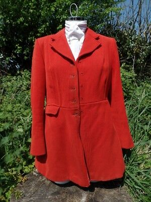 Ladies Vintage Red Hunting Pink Frock Coat by Harry Hall
