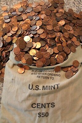 900 grams of American 1 cent US coins USA Circulated Pennies not Silver