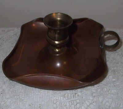 A Vintage Copper and Brass Candle Holder