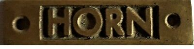 Horn Brass Plate For Canal Boat- Narrow Boat -  Barge -  Cruiser