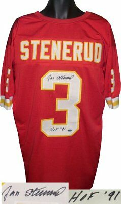 e79772ec29e Jan Stenerud signed Red TB Custom Stitched Pro Style Football Jersey HOF 91  XL