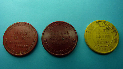 South Africa / Afrique / Afrika -Token/Jeton 3 x Capetown Tramways !!  Scarce!