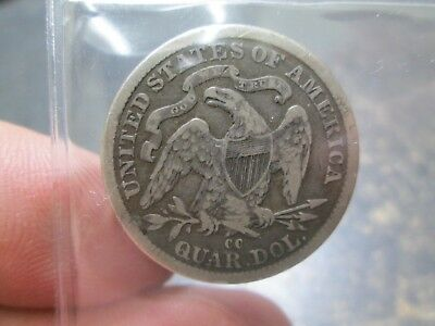 1878 CC SEATED LIBERTY QUATER IN VERY GOOD Condition