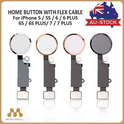 Replacement Home Button With Flex Cable For iPhone 5 5S 5C SE 6 6S 7 8 Plus