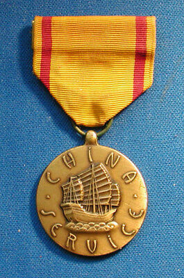 Us China Service Medal, Us Marine Corps Reverse By Graco
