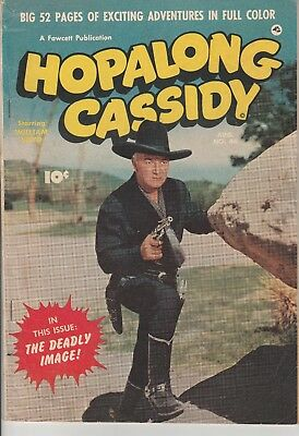 1950 Aug Issue 46 ~52 pages HOPALONG CASSIDY William Boyd Fawcett Comic Book
