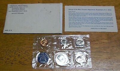1965 United States Special Mint Set With Original Envelope
