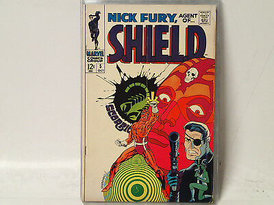 NICK FURY, Agent of S.H.I.E.L.D. #5 Marvel Comics 1968 VG  Steranko Art!  FL