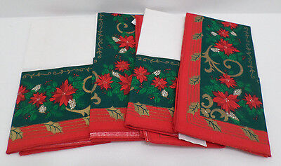 Christmas Cloth Napkins made in Brazil Lot of 4
