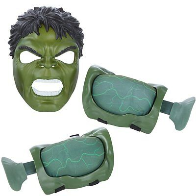 Boys Avengers Incredible Hulk Mask Mighty Muscle Gamma Power Pack Fancy Dress Up