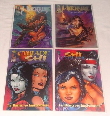Witchblade #1 2 3 4 Wizard 1/2 & Shi/Cyblade 1st Appearance  (1995, Image)