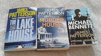 Books, collection crime thrillers - three books, James Patterson
